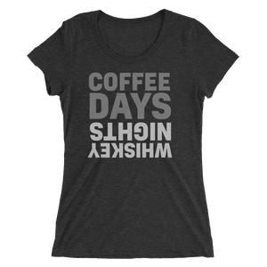 Coffee Days Whiskey Nights Women's T-Shirt