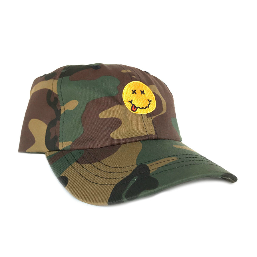 Smiley Face Camo Dad Cap