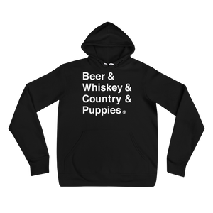 Beer & Whiskey & Country & Puppies Hoodie