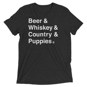 Beer & Whiskey & Country & Puppies T-Shirt