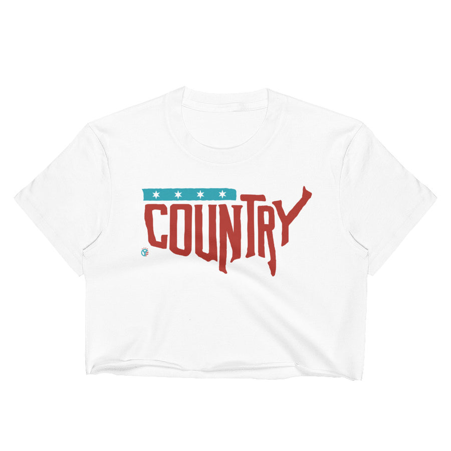 Country, USA Crop Top Tee