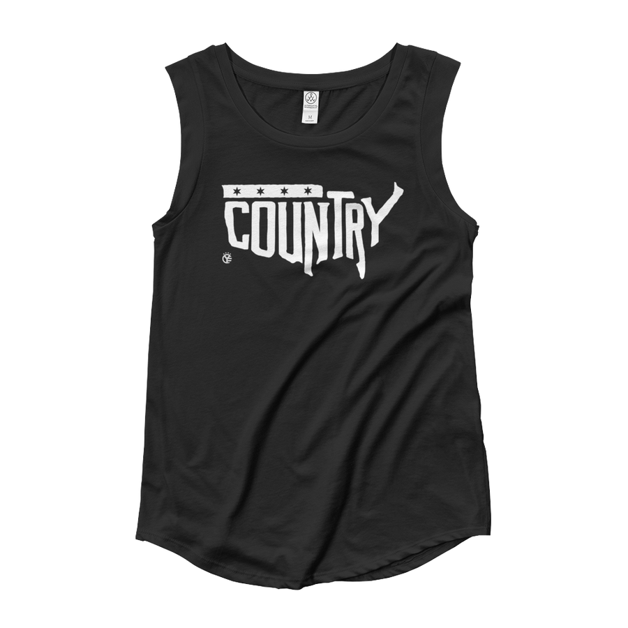 Country, USA Women's Cap Sleeve Tank Top