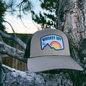 Whiskey Riff Mountain Trucker Hat