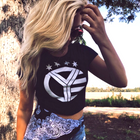 Whiskey Riff Logo Women's Crop Top Tee