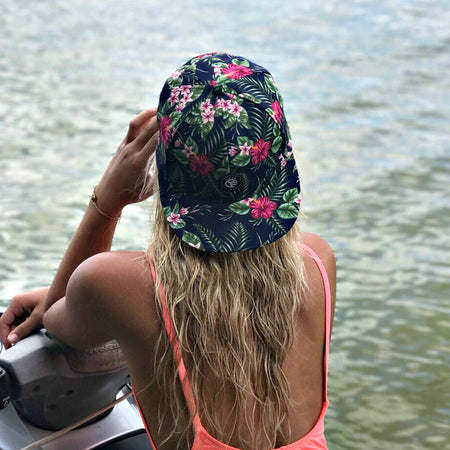 The Whiskey Riff Floral Snapback Hat