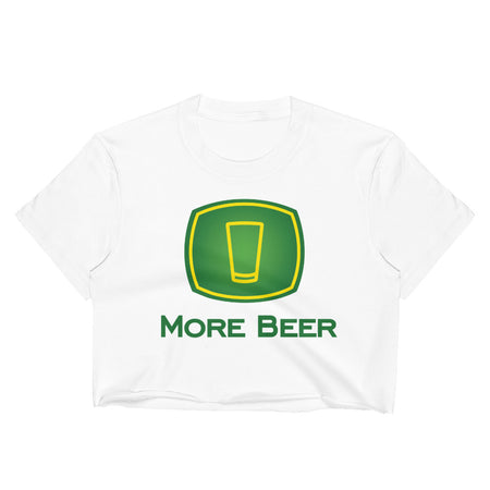 More Beer Crop Top Tee