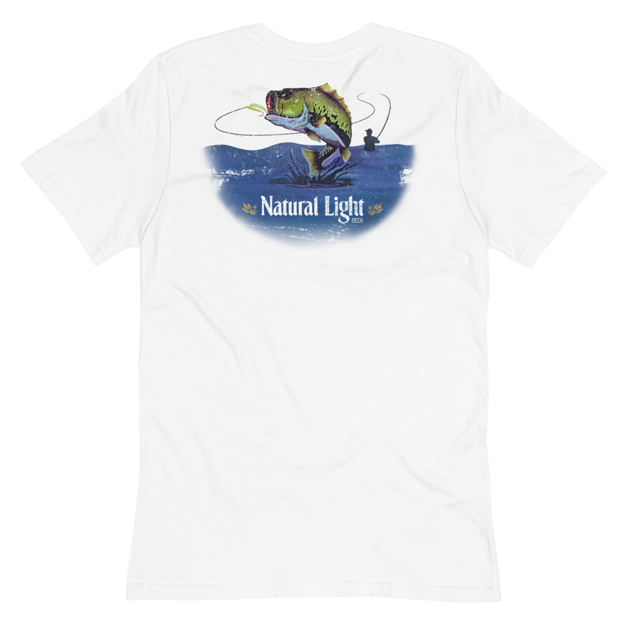 Natural Light Bass Fishing Pocket T-Shirt