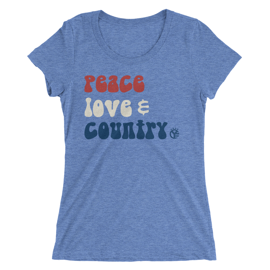 Peace, Love, & Country Women's T-Shirt
