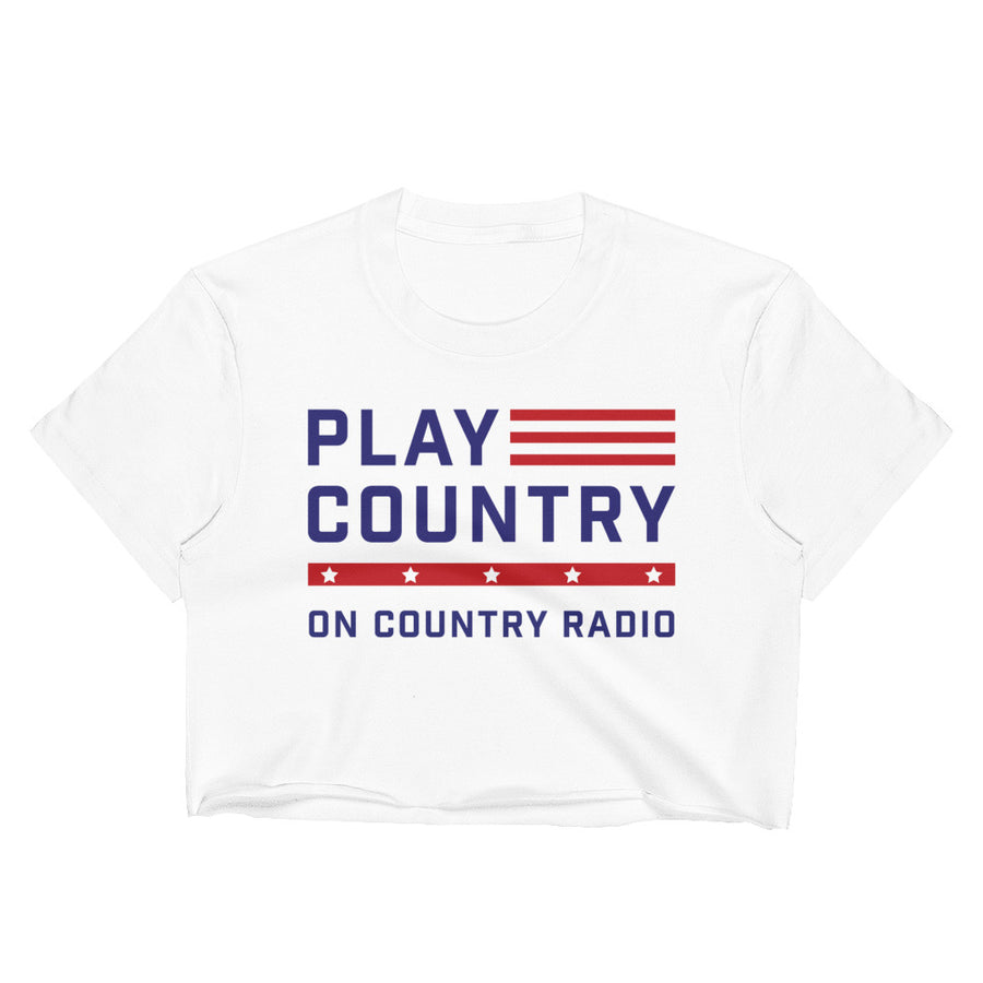 Play Country On Country Radio Crop Top