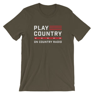 Play Country On Country Radio Military Green T-Shirt