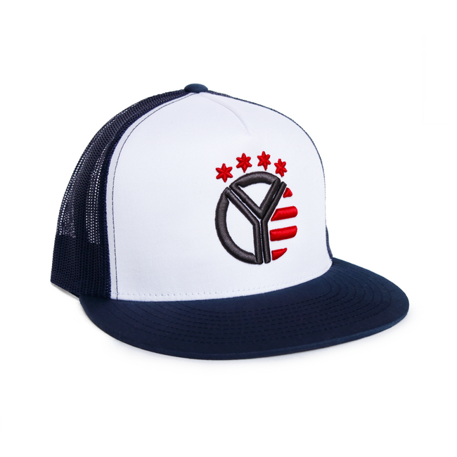 The Red, White, & Blue Whiskey Riff Snapback