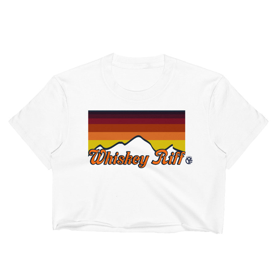 Whiskey Riff 70's Sunset Crop Top Tee