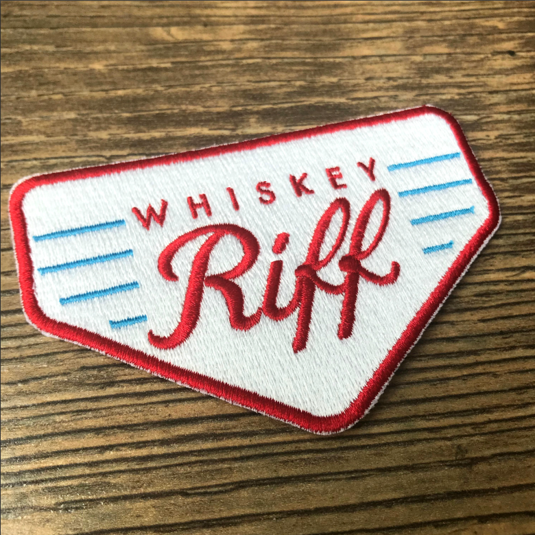 Whiskey Riff Retro Patch