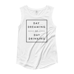 Day Dreaming of Day Drinking Women's Cap Sleeve Tank Top