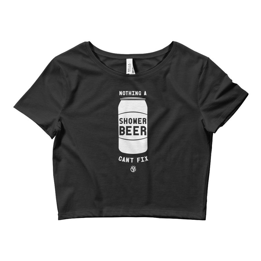 Shower Beer Womens Crop Top Tee