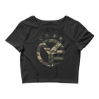 Camo Whiskey Riff Logo Women's Crop Top Tee