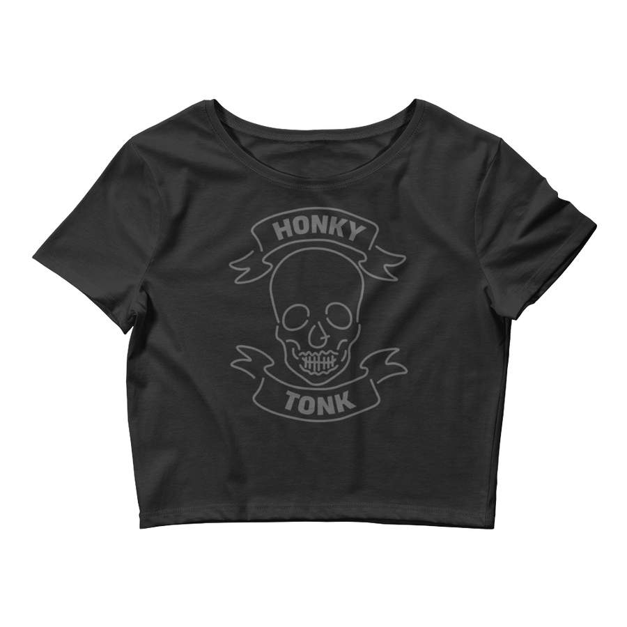 Honky Tonk Skull Women's Crop Top Tee