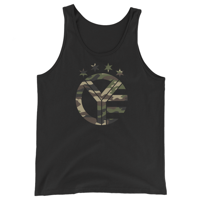 Camo Whiskey Riff Symbol Tank Top