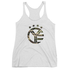 Camo Whiskey Riff Symbol Women's Tri-Blend Tank Top