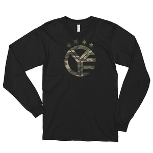 Long Sleeve Whiskey Riff Camo Logo Tee