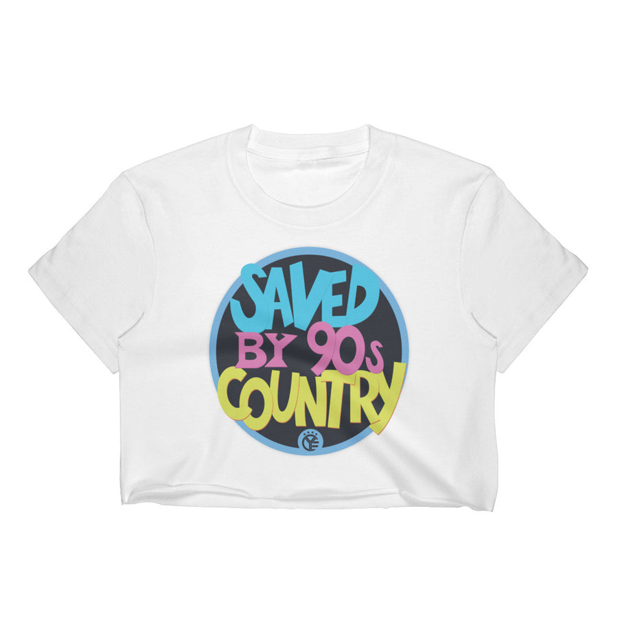 Saved by 90's Country Crop Top Tee