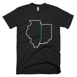 Indiana Illinois Line T-Shirt