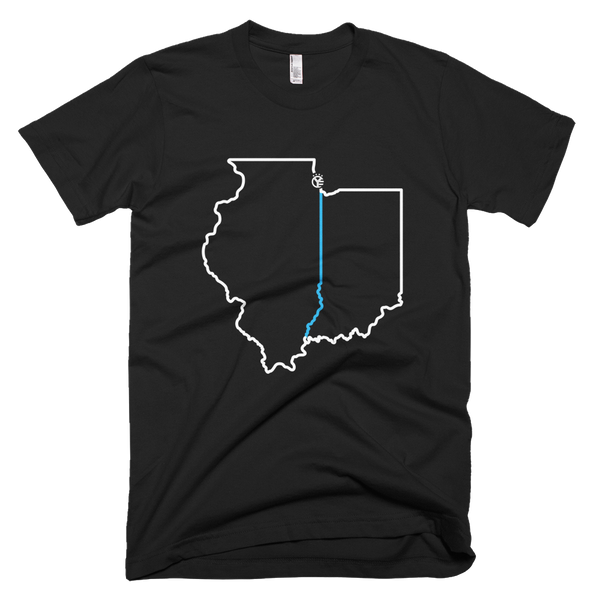 Illinois // Indiana Line Men's T-Shirt