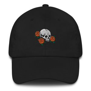 Skull and Roses Dad Cap