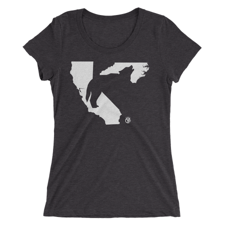 Heads Carolina, Tails California Wolf Women's T-Shirt