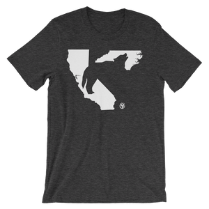 Heads Carolina, Tails California Wolf T-Shirt