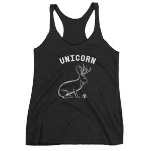 Jackalope Unicorn Women's Tri-Blend Tank Top