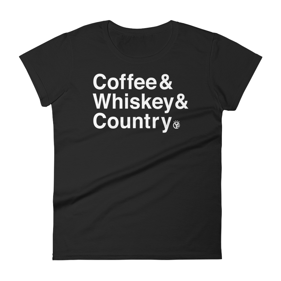 Coffee & Whiskey & Country Women's T-Shirt