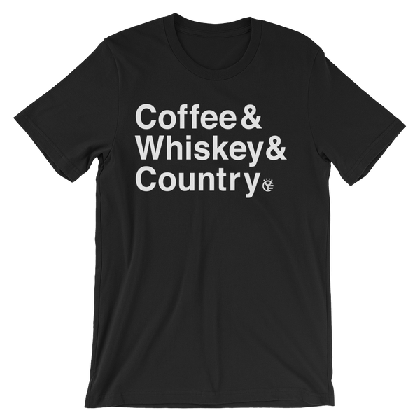 Coffee & Whiskey & Country T-Shirt