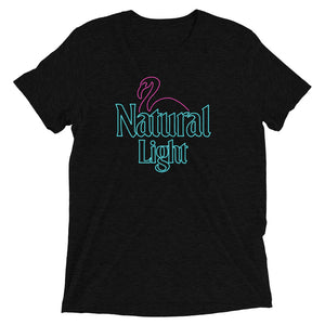 Natural Light Neon Flamingo T-Shirt