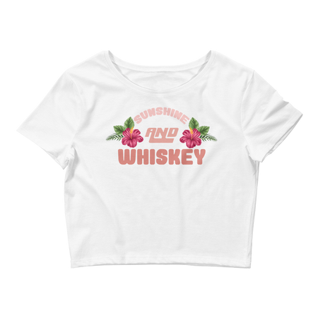 Sunshine and Whiskey Women's Crop Top Tee