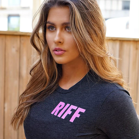 Hot Pink RIFF T-Shirt Benefiting The Breast Cancer Research Foundation