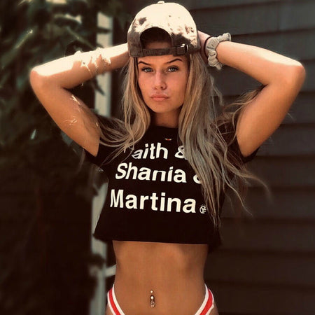 Faith & Shania & Martina Crop Top Tee
