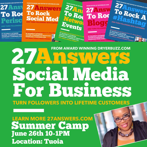 27 Answers Summer Business Camp | June 26th