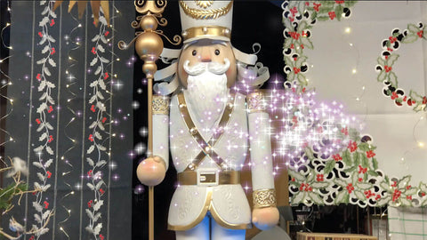 Giant gold and silver nutcracker