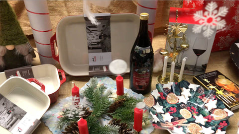 Housewares and Gluhwien (mulled wine):