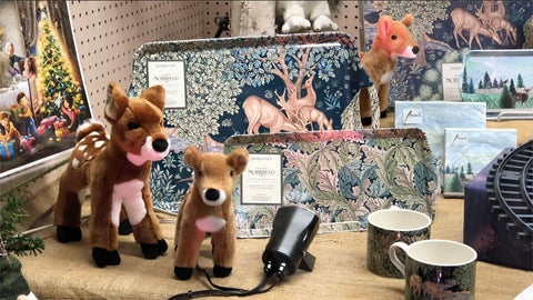 Animal stuffies and trays: