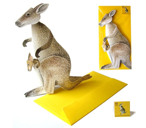 3D Animal Card - Kangaroo
