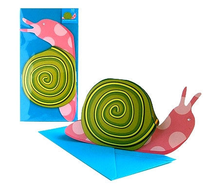 3D Animal Card - Snail