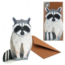 3D Animal Card - Raccoon