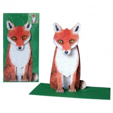3D Animal Card - Fox