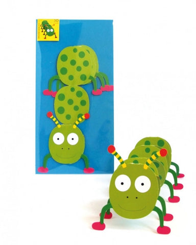 3D Animal Card - Caterpillar