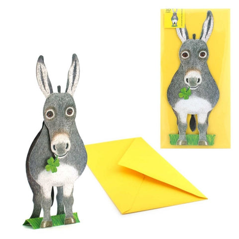 3D Animal Card - Donkey