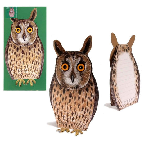 3D Animal Card - Owl