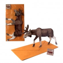 3D Animal Card - Moose