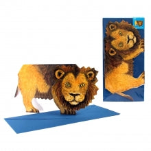3D Animal Card - Lion